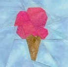 Ice cream crafts ice cream cone quilting block