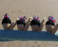 Olympic Swimmers Knitted 2012 London Dolls