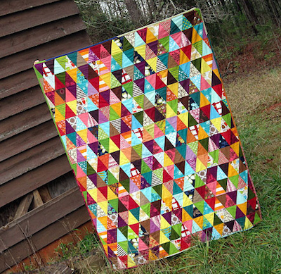 scrappy triangles quilt tutorial