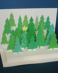 paper crafts forest card