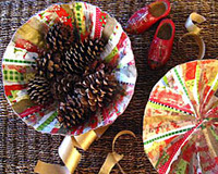 paper mache wrapping paper bowls