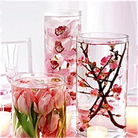 submerged flowers centerpiece