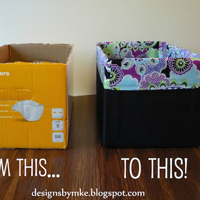 upcycled diaper box craft