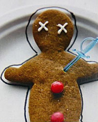 crime scene gingerbread man