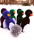 crochet penguin bowling game