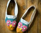 owl craft shoe refashion