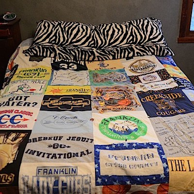 T-shirt quilt upcycle