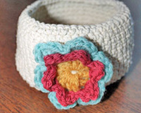 beginner crochet flower