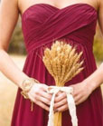 cranberry and wheat wedding colors