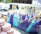 purple and teal wedding colors