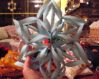 A paper snowflake that is 3D.