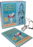 The Snoopy organic biscuits kit with recipe book and cookie cutters.