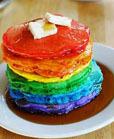 rainbow cake pancakes