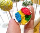 rainbow cake pop