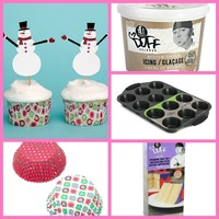 holiday baking cupcake kit