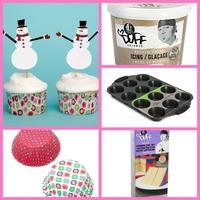 holiday baking cupcake kit