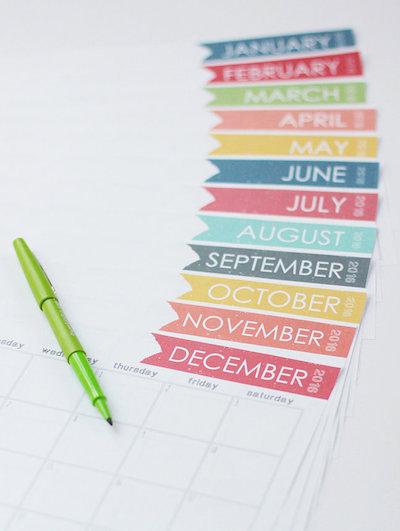diy 2016 calendar