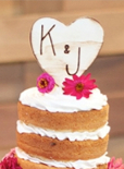 handmade wedding ideas cake topper