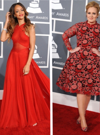 2013 Grammys Rihanna and Adele