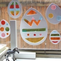Stained glass egg decorations