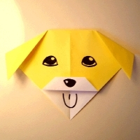 An origami dog