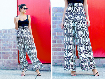 Swimsuit Cover Up Palazzo Pants