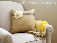 burlap pillow tutorial