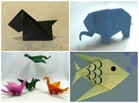 origami elephant instructions, origami fish instructions