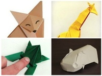 origami fox instructions, origami frog instructions