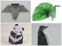origami penguin instructions, origami panda instructions