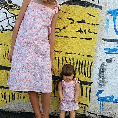 patterned sundress for girls