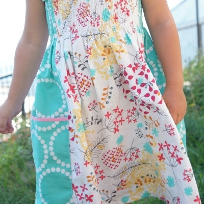 Flower-patterned sundress