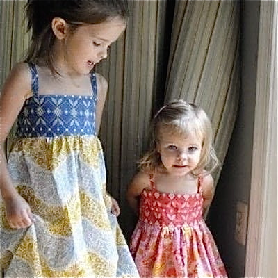 Sundresses with contrasting colors