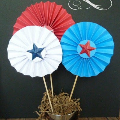 Red, white, and blue pinwheels