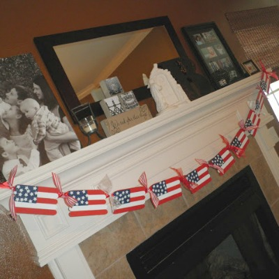 Popsicle stick flag crafts