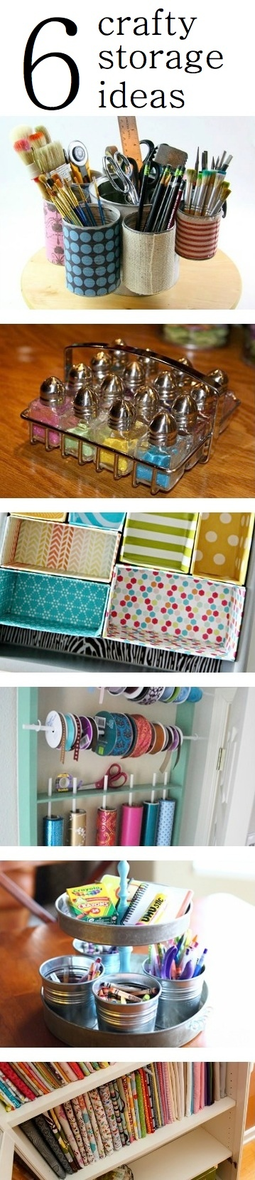 6 Crafty Organizing Ideas