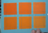 Handmade card made from paint chips