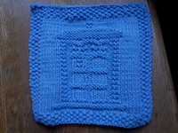 tardis dish cloth