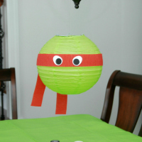 Teenage Mutant Ninja Turtle paper lantern Craft