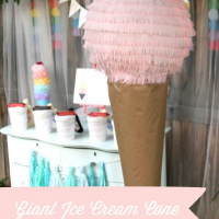 Ice cream Paper Lantern Craft