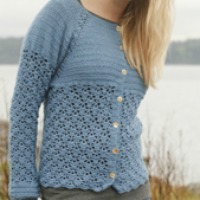 Forget-me-not crochet sweater pattern