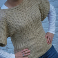 Dolman Sleeve Crochet Sweater free pattern
