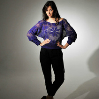Floral Lace Top Free Crochet Sweater Pattern