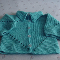 Baby Hexagon Free Crochet Sweater Pattern