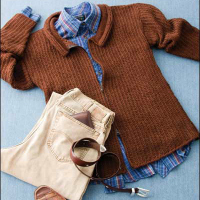 Tunisian Rib Stitch Front Zip Cardigan Free Sweater Pattern