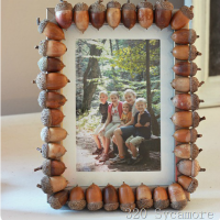 Fall Craft Idea -- Acorn Picture Frame