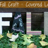 Fall Craft Idea -- Covered Letters