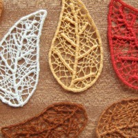Fall Craft Idea -- Skeleton Leaves