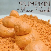 Fall Craft for Kids -- Pumpkin Moon Sand