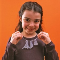Fall Crafts for Kids -- Ghost Necklace